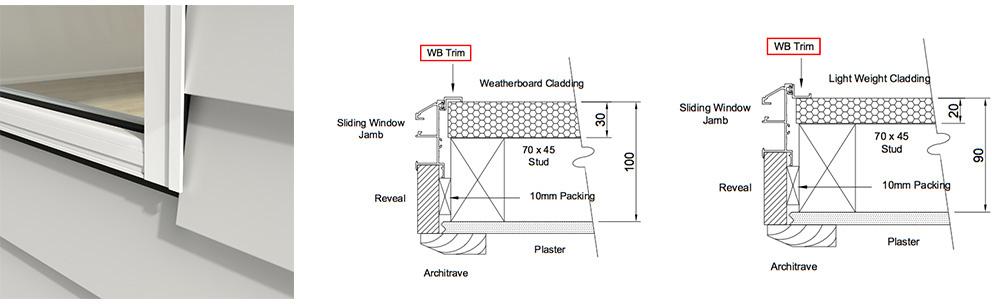 Weatherboard trim