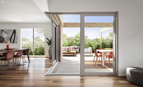 Boutique Aluminium Cavity Sliding Doors