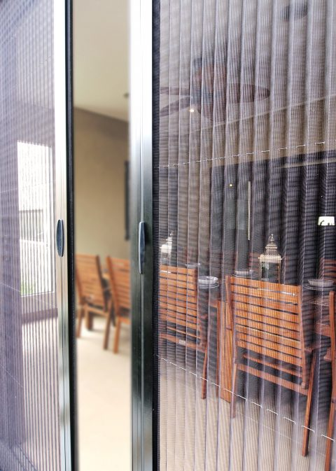 Retractable fly screen door available on Boutique Sliding Doors only. & Screening Solutions - A\u0026L