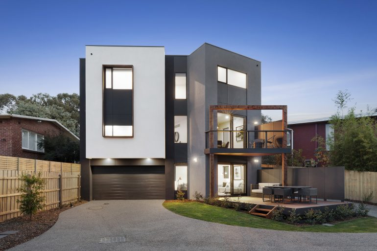 The showpiece home at Nunawading, standing proud and packed with enlightened design choices
