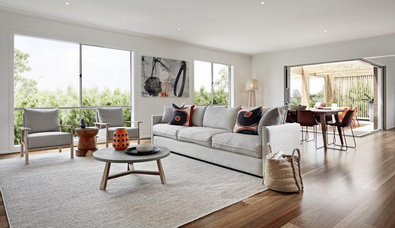 Lounge with large windows